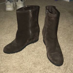 AUTHENTIC prada suede sports boots in brown